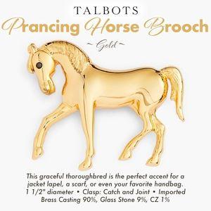 Horse Brooch ~ Prancing
